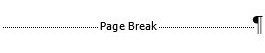 "page breaks are shown with the phrase ""page break"""