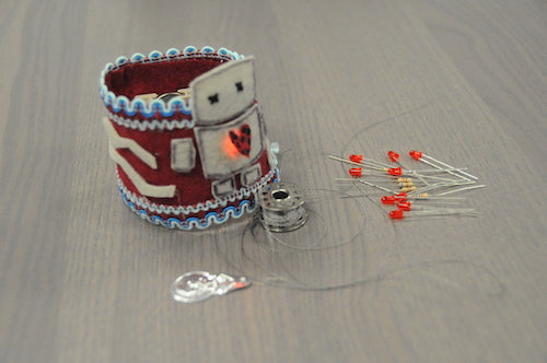 small ring or armband with circuits built in