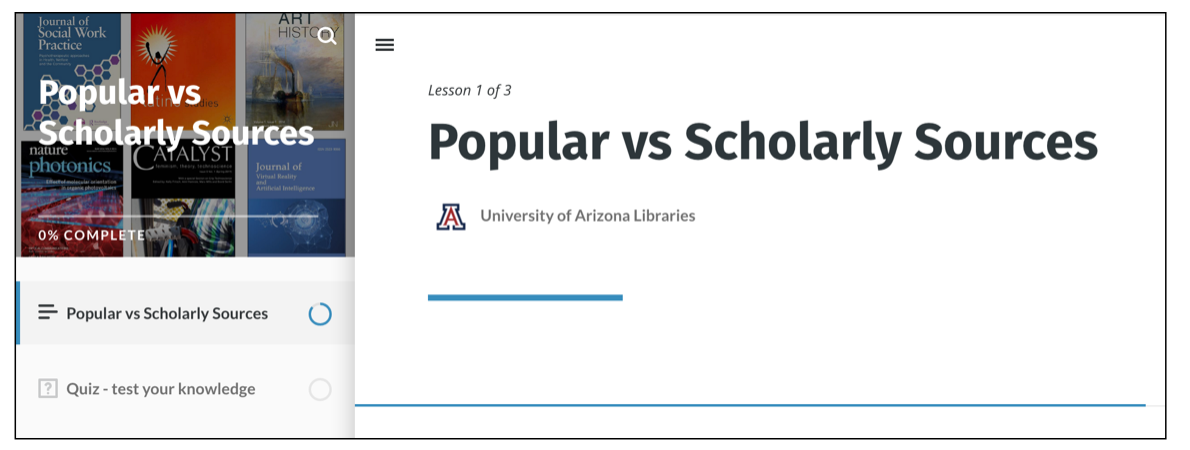 Popular vs Scholarly Sources