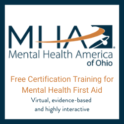 Mental Health America of Ohio Certification Training