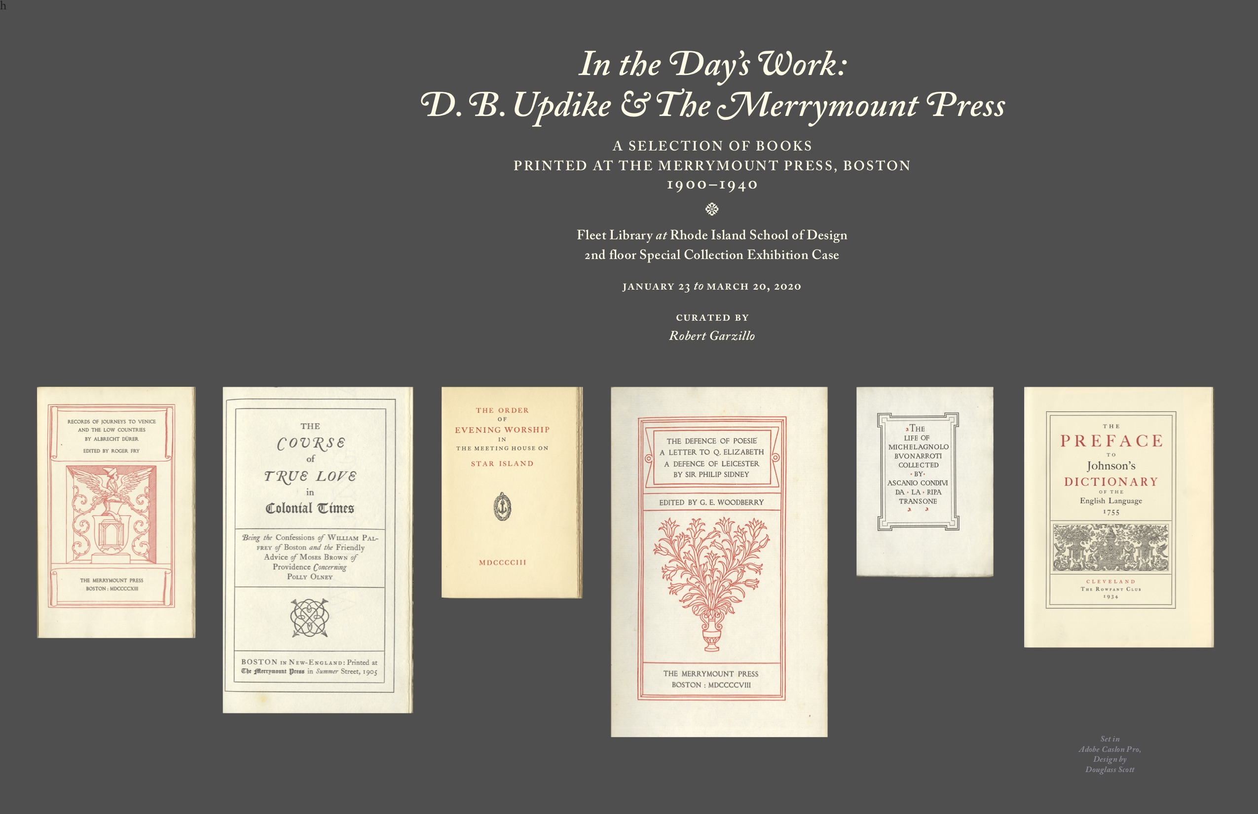 In the Day's Work: D. B. Updike & the Merrymount Press