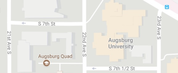Augsburg map with bus stop