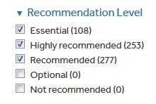 recommend-level box