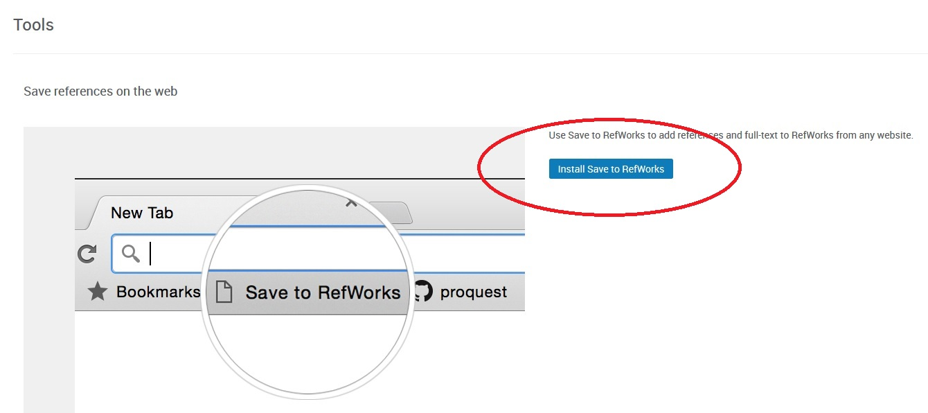 RefWorks Tools