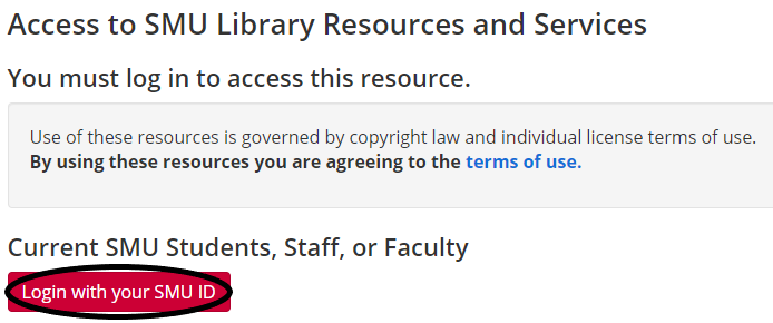 """""""select the button that says login with your SMU ID"""""""