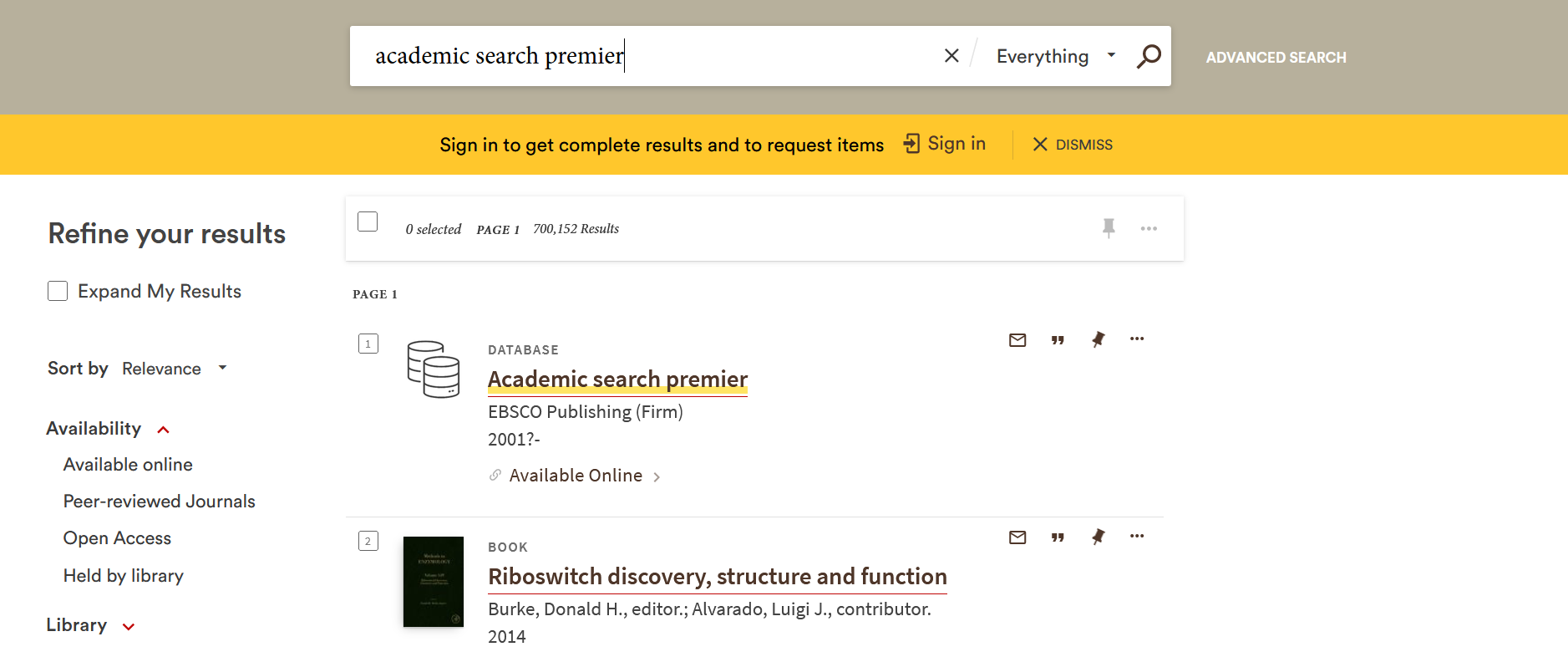 bruknow search results for academic search premier