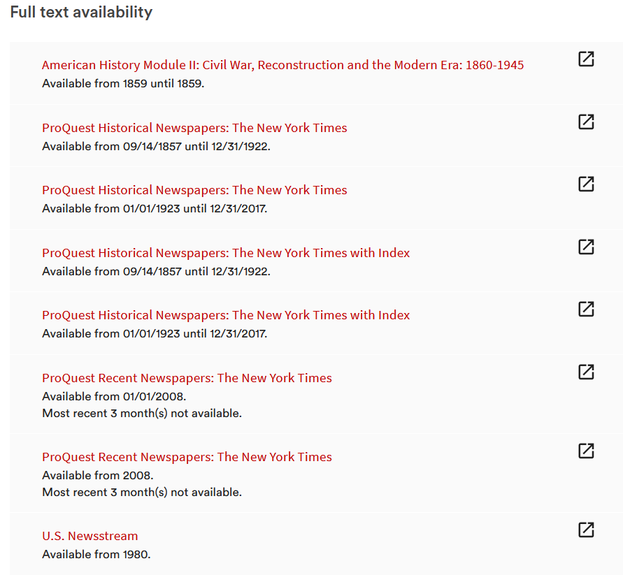 image of get access links in BruKnow for New York Times