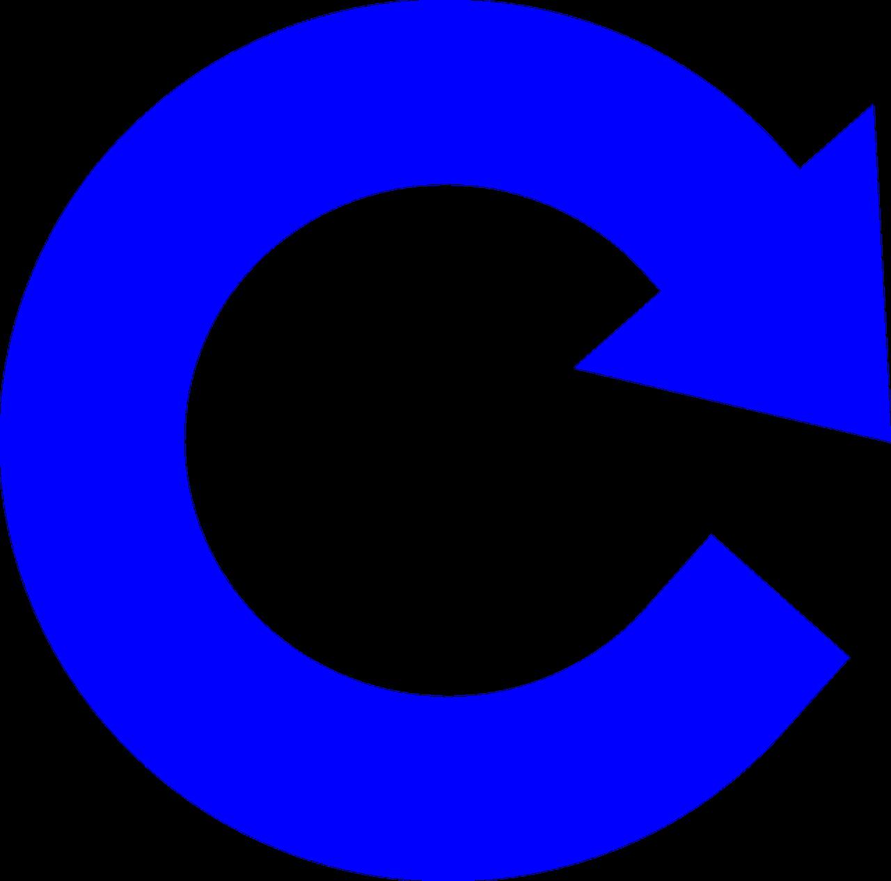circle-shaped arrow