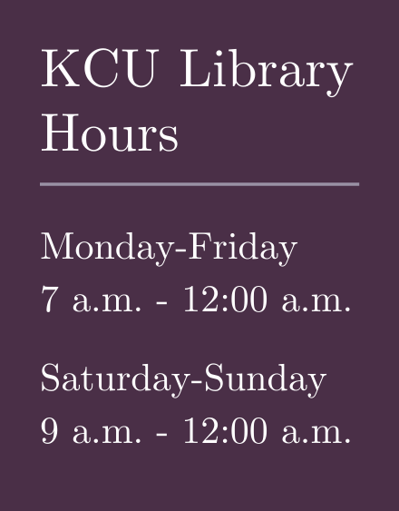 kcu library hours