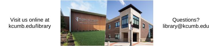 Visit Your KCU Libraries Online!