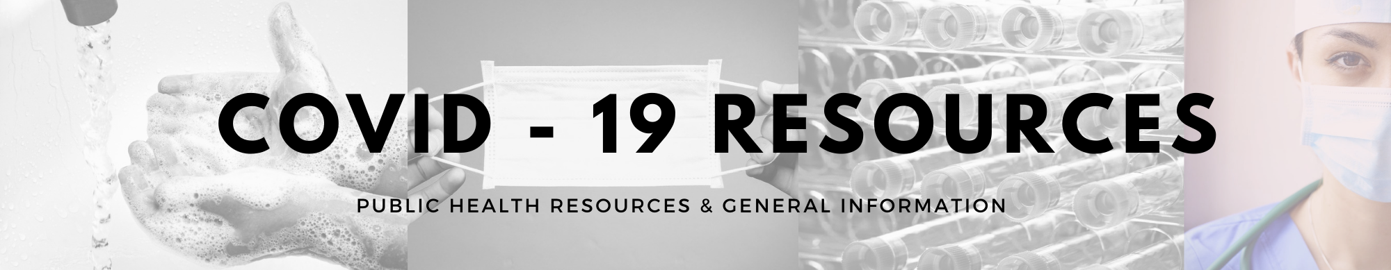 COVID 19 Resources banner cover art