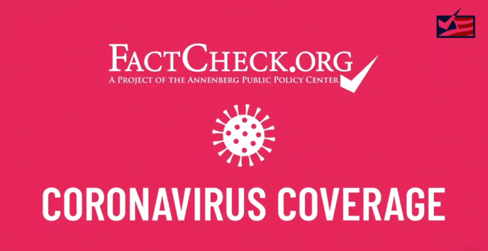 Fact Check COVID19 Banner