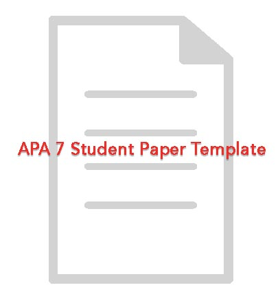 APA 7 Student Paper Template