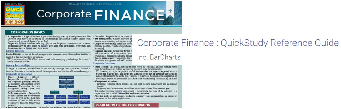 Corporate Finance Reference Guide