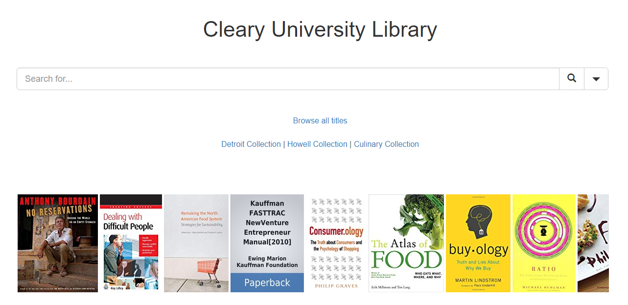 Cleary Library Catalog