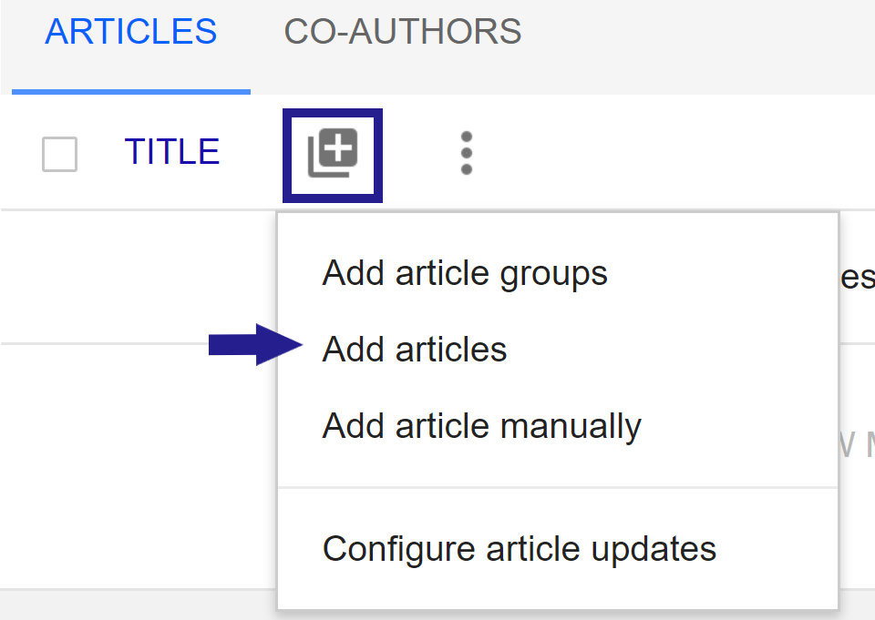 image shows add citations icon and options