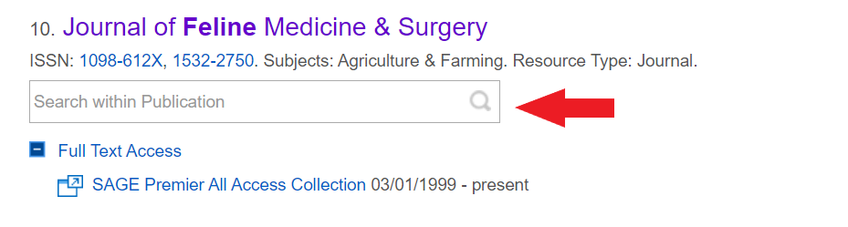 location of search within publication search box