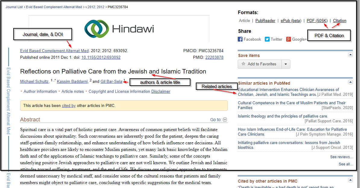 Jewish end of life article abstract & elements