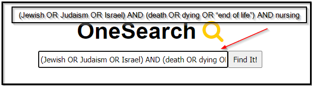Jewish end of life search string