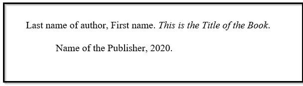 Print book MLA citation