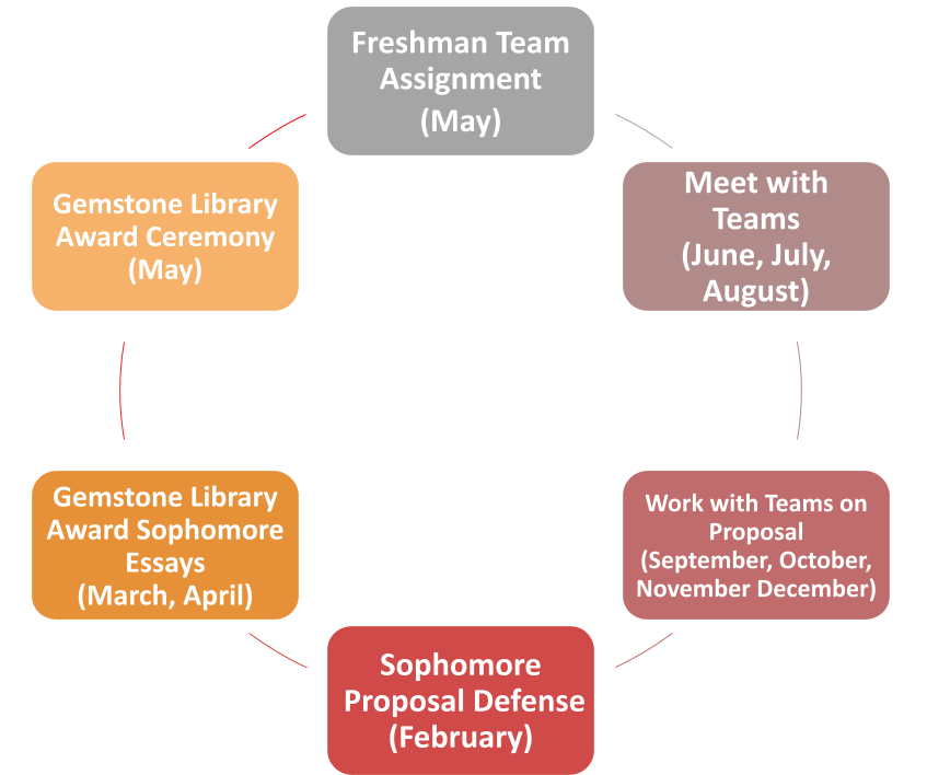 A visualization of the Gemstone Librarian year in review