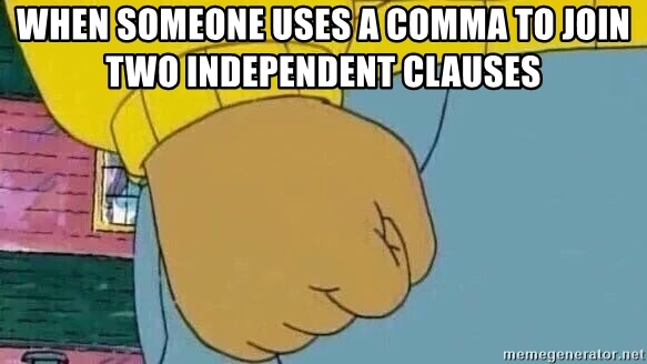 Meme - When someone uses a comma