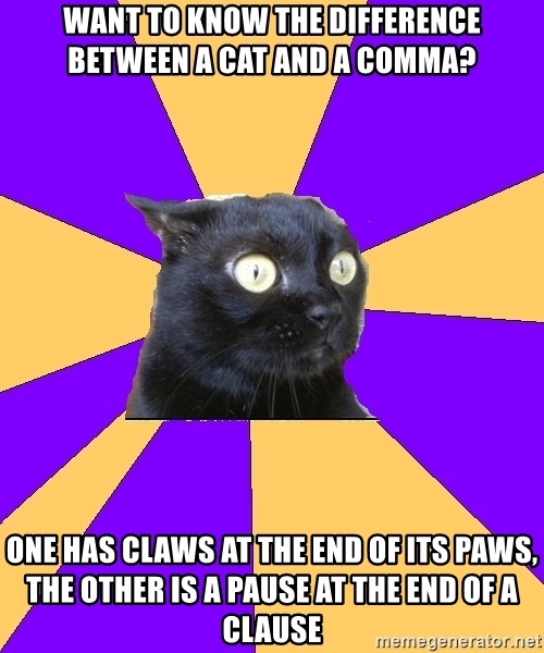 Meme - The difference between a cat and a comma
