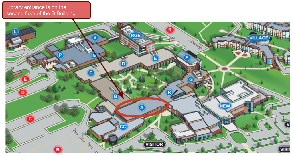 Campus Map Library Location