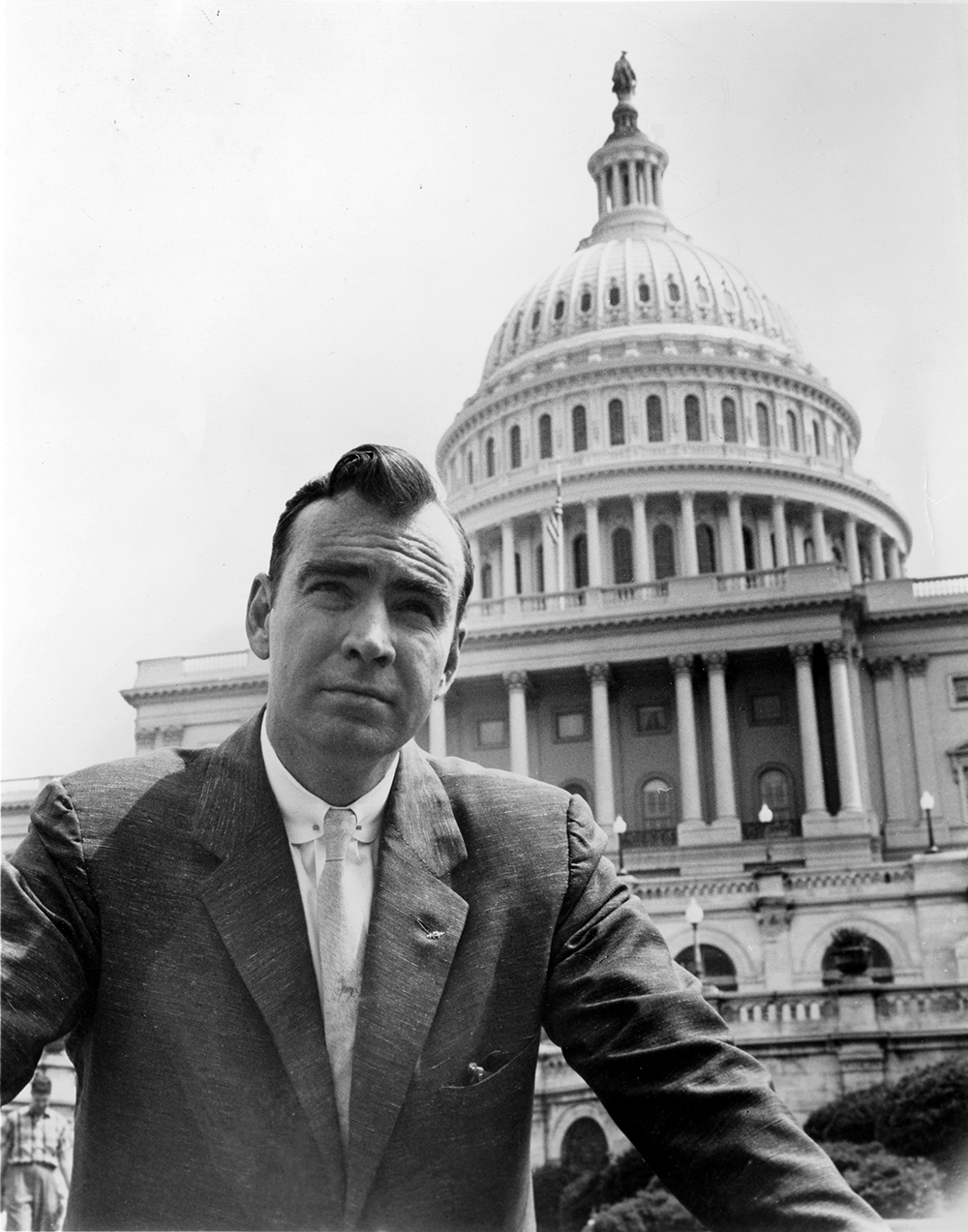 Jim Wright on the steps of the U.S. Capitol, 1960s