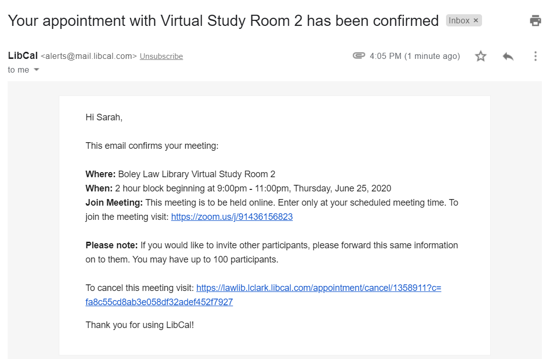 book a virtual study room step 4