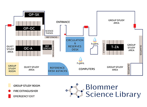 Blommer Science Library Floor Map