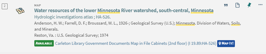 A record for a map in our collection produced by Minnesota. Division of Waters, Soils, and Minerals.