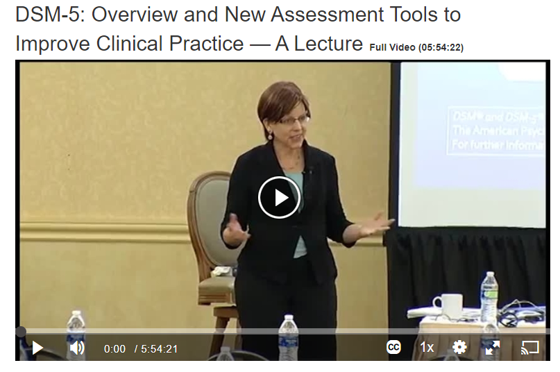 Overview and New Assessment Tools to Improve Clinical Practice Screenshot