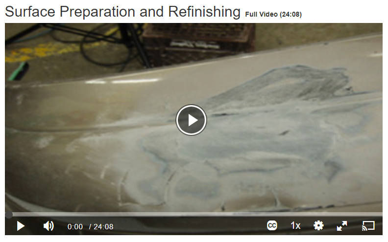Surface Preparation and Refinishing Screenshot
