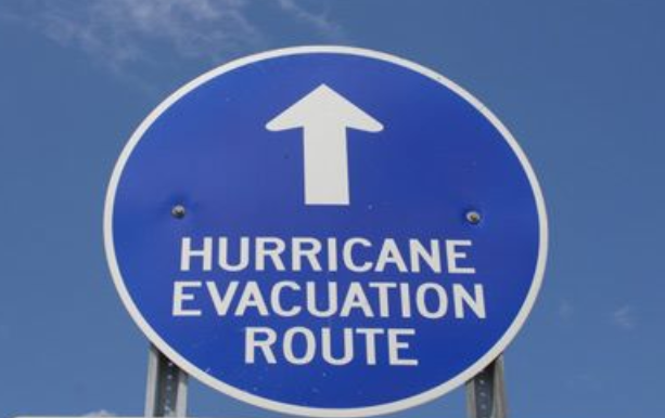 Image of evacuation sign