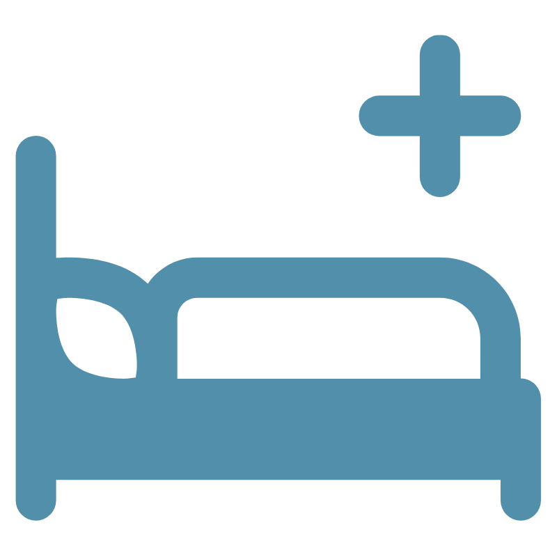 Icon of a hospital bed to display ward