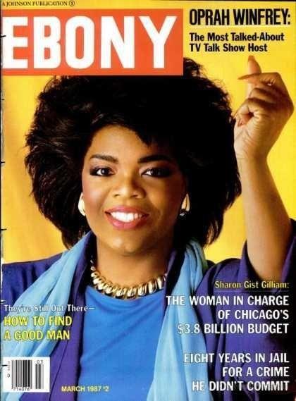Ebony cover, March 1987