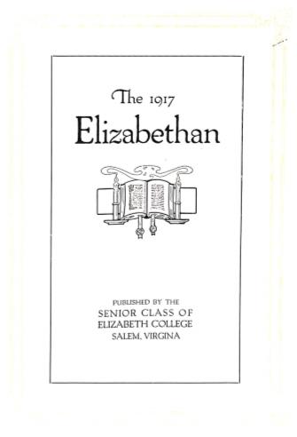 Elizabethan 1917 Yearbook