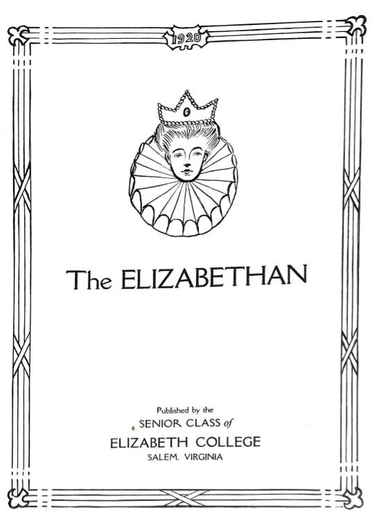 Elizabethan 1920 Yearbook