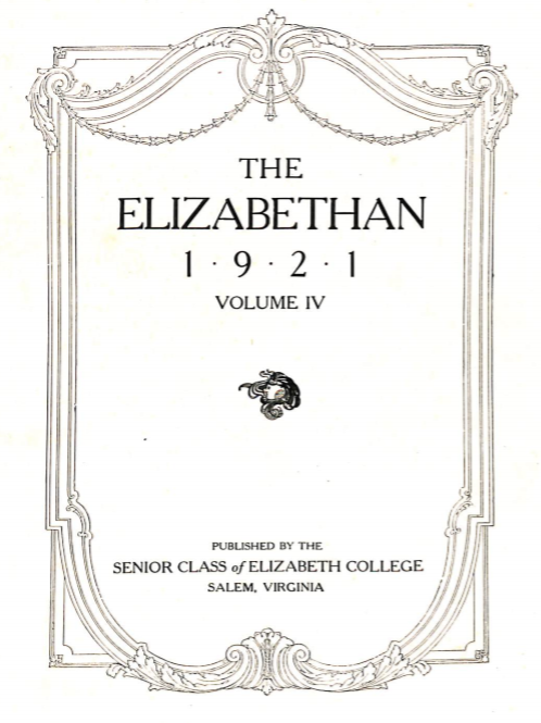 Elizabethan 1921 Yearbook
