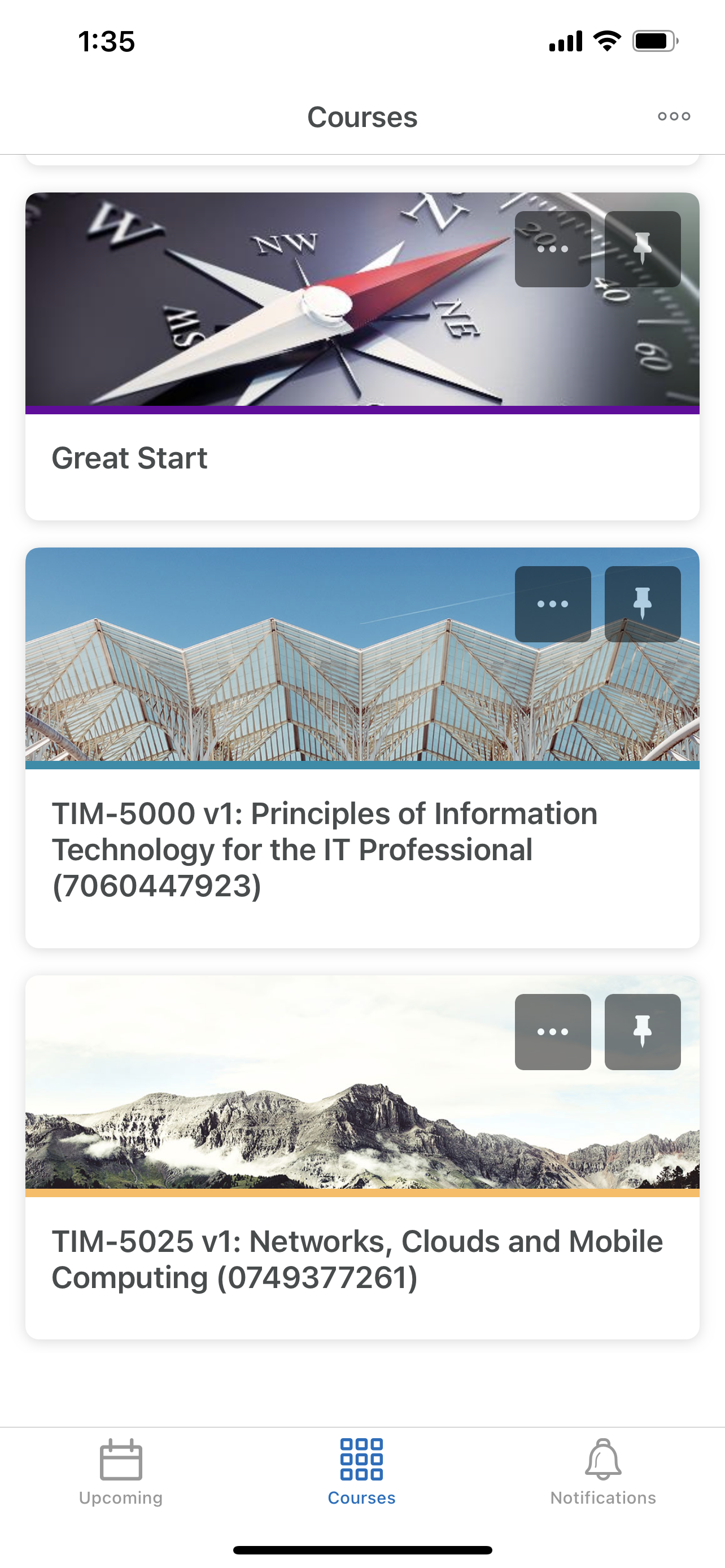 Access course content in Brightspace Pulse App