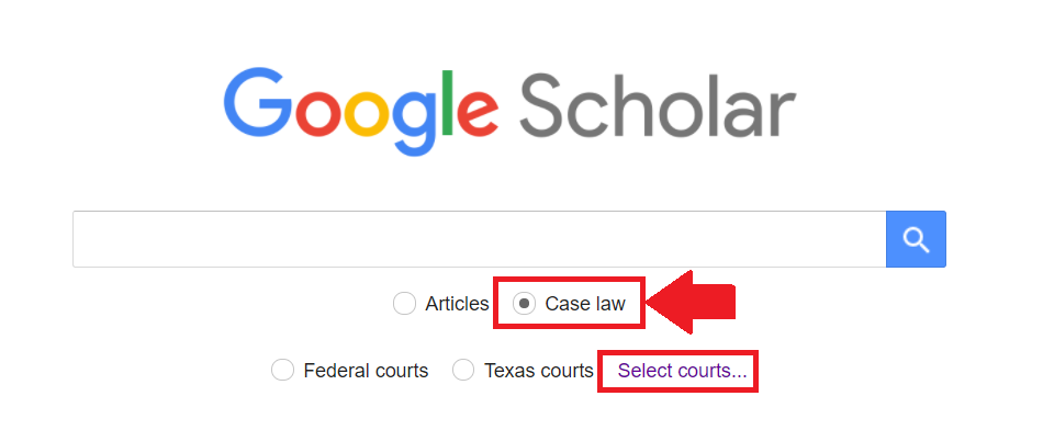 Case Law Search in Google Scholar
