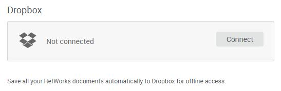 Link your Dropbox account in RefWorks