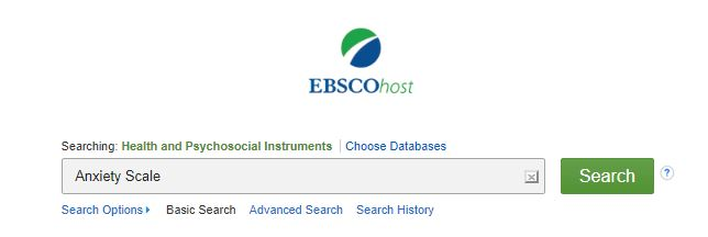 Health and Psychosocial Instruments database search box