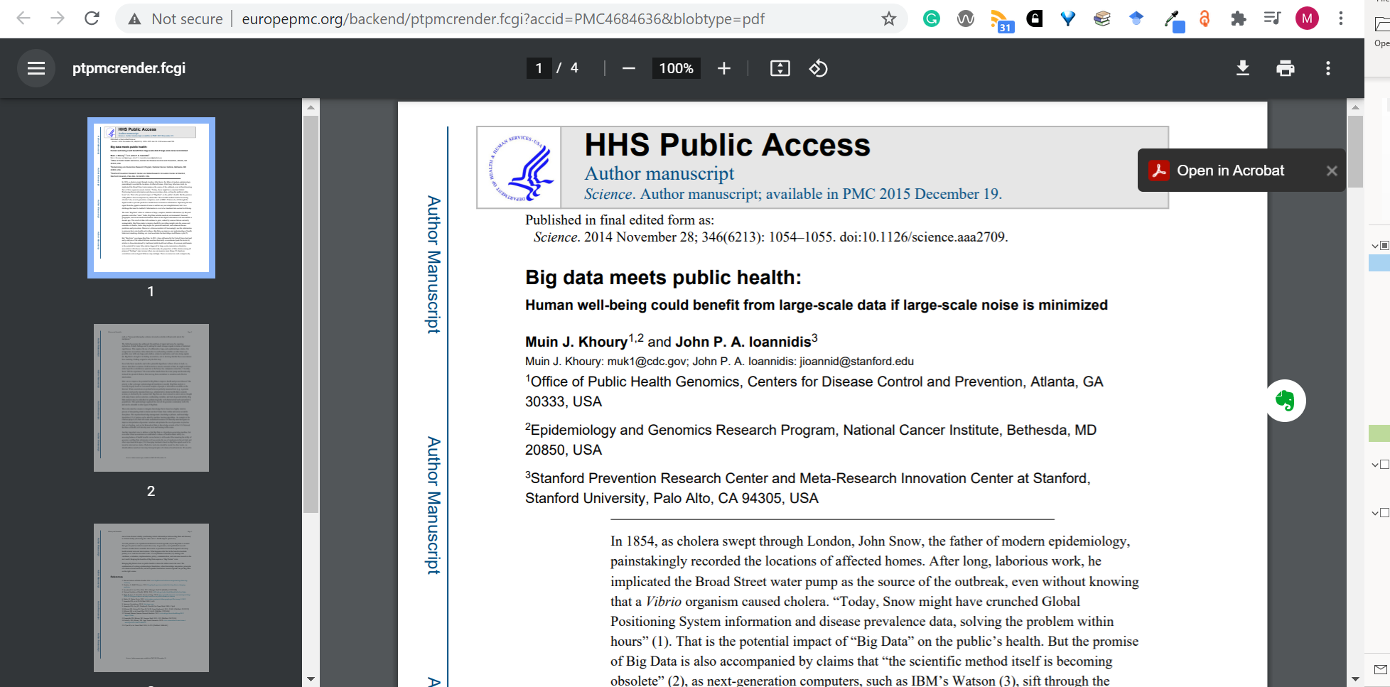 Open access copy of article accessed through Open Access Button