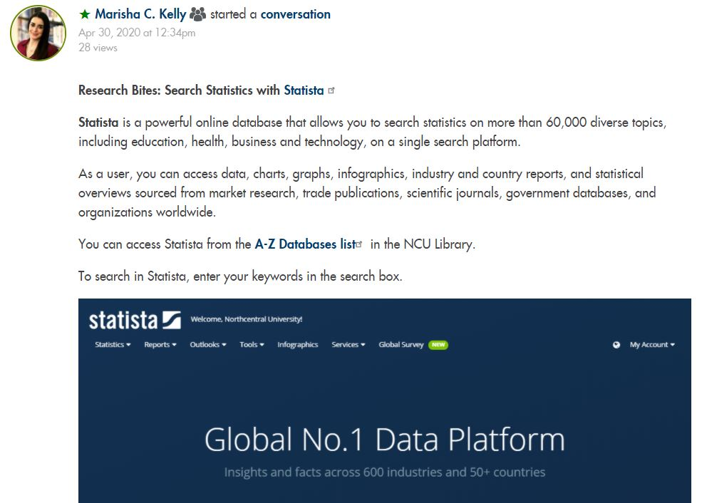 Research bites on Statista
