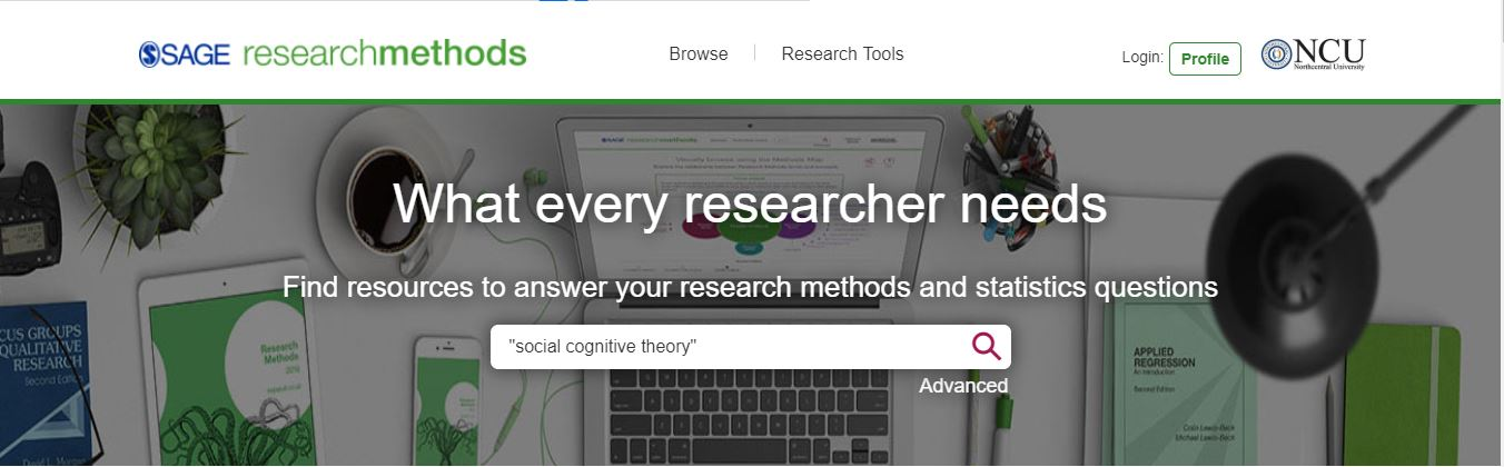 Image of SAGE Research Methods search screen