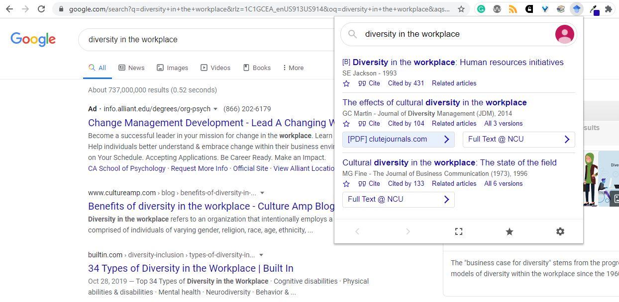 Transfer general web search to Google Scholar