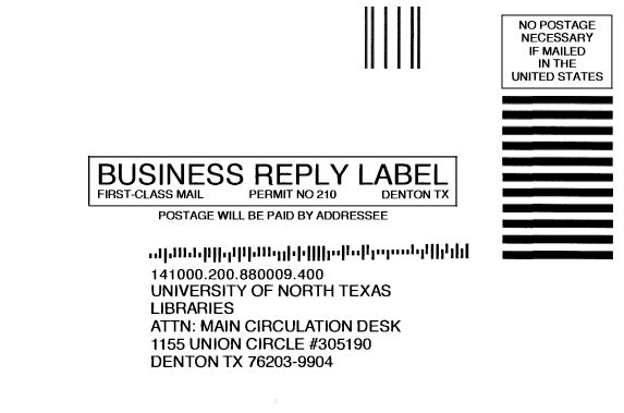 Business Reply Label