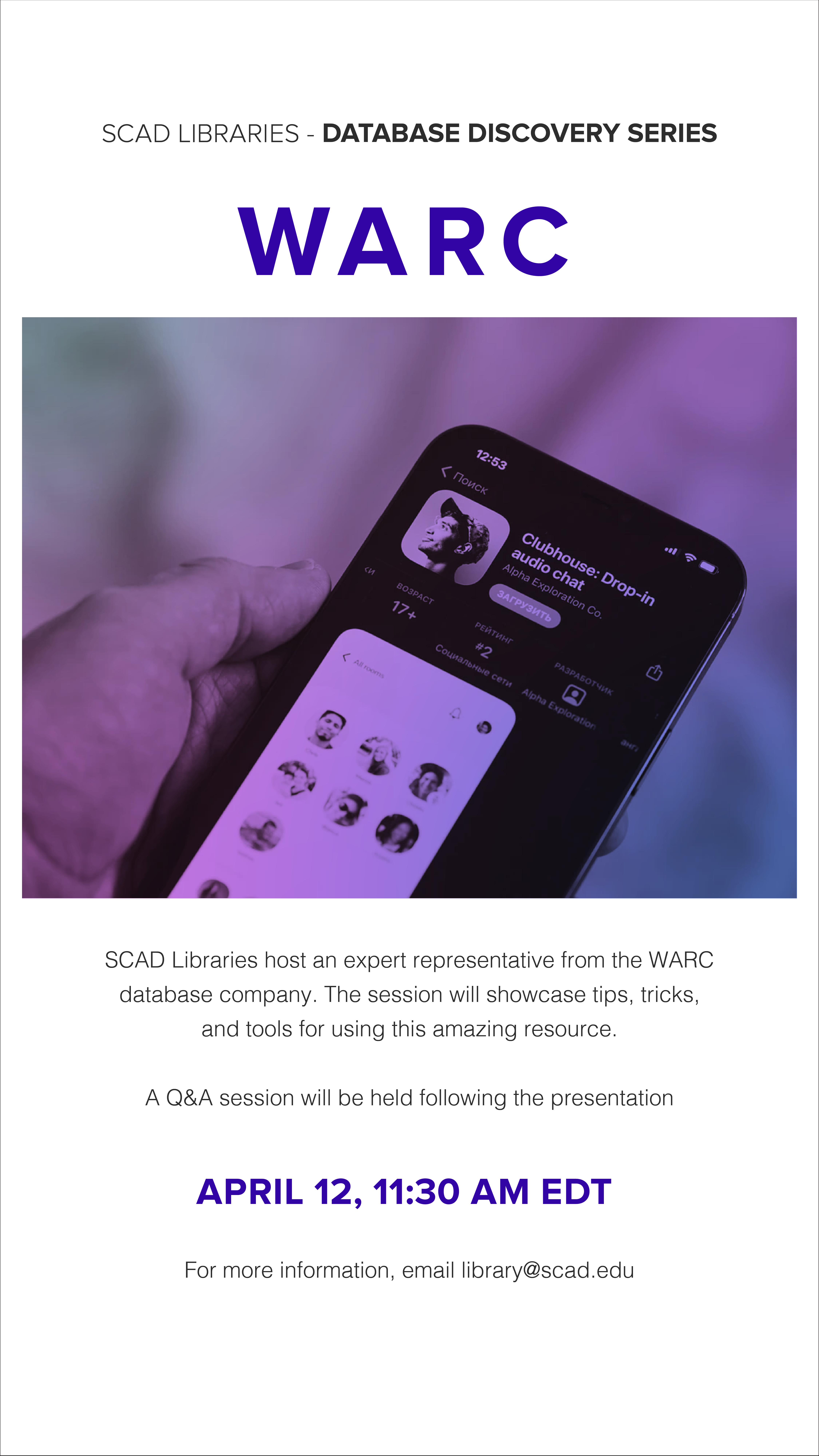 WARC flyer